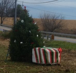 Roundbale Christmas Tree