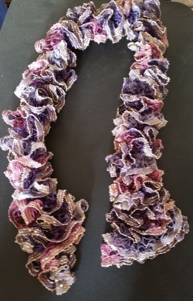 A knitted scarf by Nana.